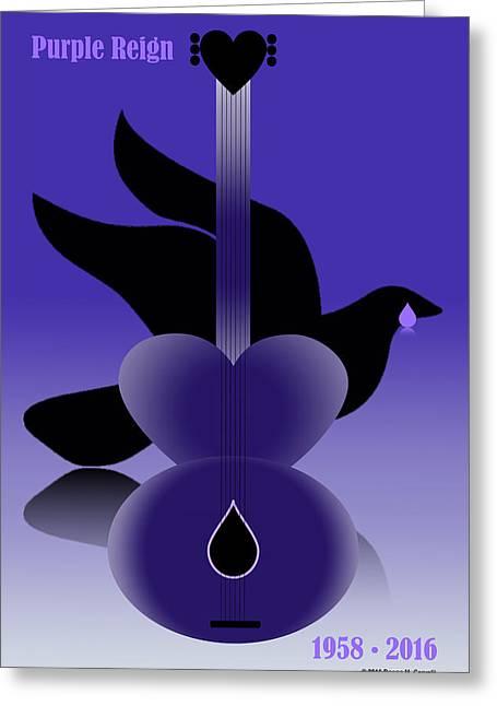 Purple Reign 1958-2016 Greeting Card