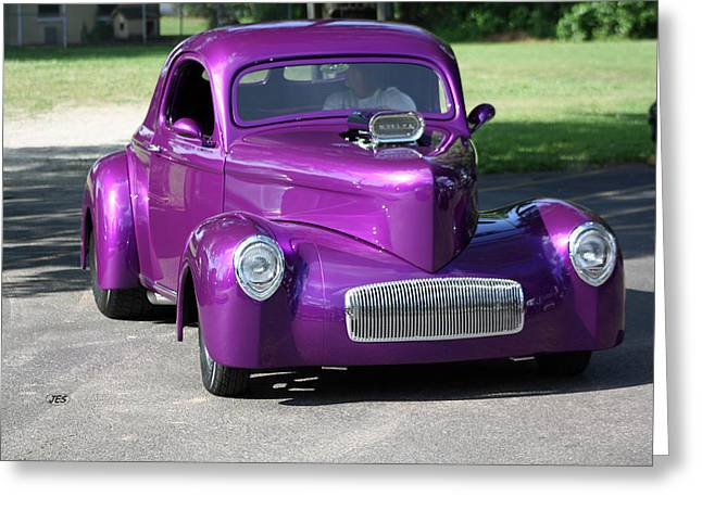 Purple Rod Greeting Card by Jim Simms
