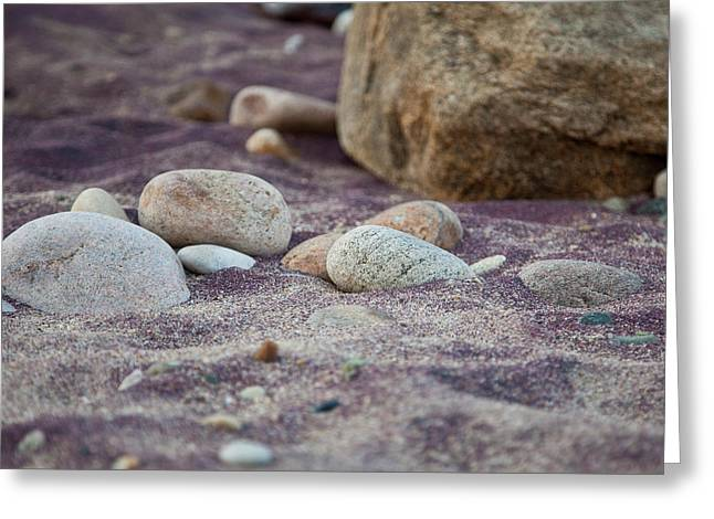 Purple Sand Greeting Card by Sara Hudock