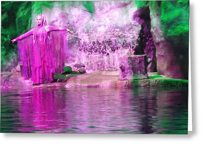Purple Siren Greeting Card by Anna Villarreal Garbis