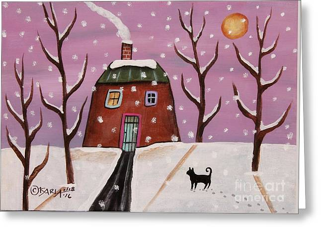 Purple Sky 2 Greeting Card by Karla Gerard