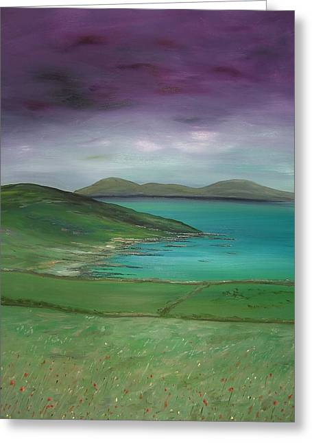 Purple Sky Over Donegal Greeting Card by Maurice Noble