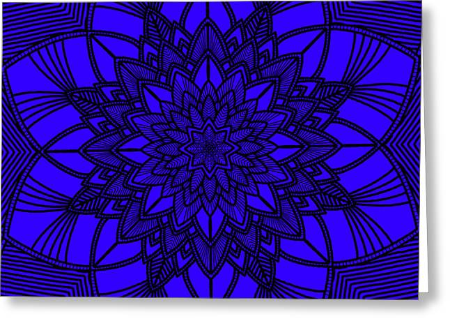Greeting Card featuring the digital art Purple Spiritual by Lucia Sirna