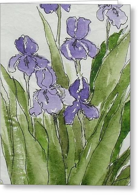 Purple Spring Greeting Card
