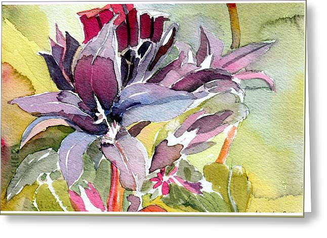 Purple Stem Aster Greeting Card by Mindy Newman