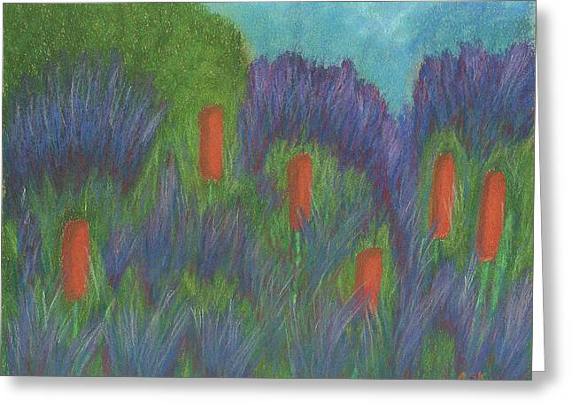 Purple Strife And Cattails Greeting Card
