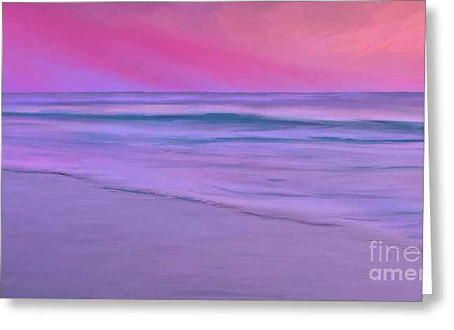 Purple Sunset Greeting Card by Anthony Fishburne