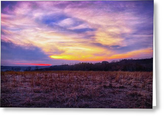 Purple Sunset At Retzer Nature Center Greeting Card by Jennifer Rondinelli Reilly - Fine Art Photography