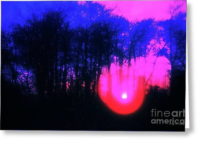 Greeting Card featuring the photograph Purple Sunset by Craig J Satterlee