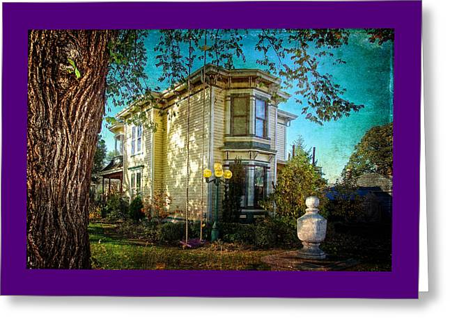 House With The Purple Swing Greeting Card