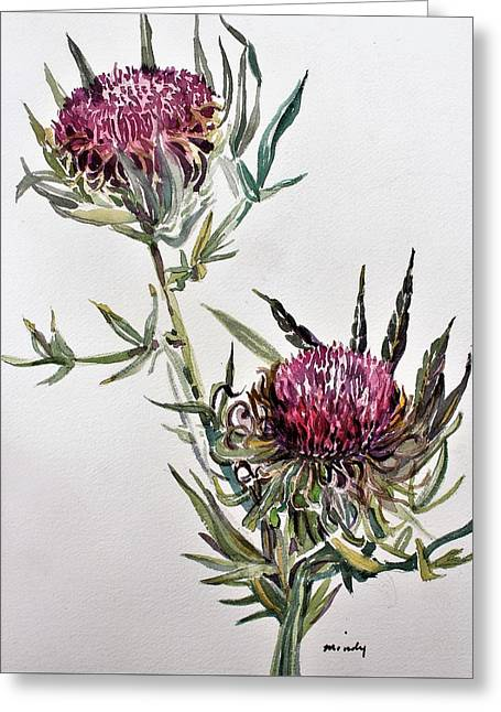 Purple Thistle Greeting Card