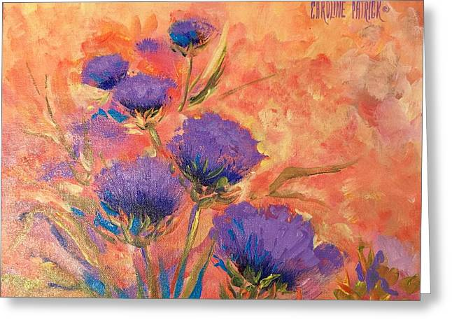 Purple Thistles Greeting Card
