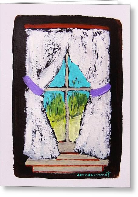 Purple Tiebacks Greeting Card