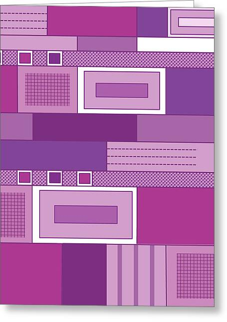 Purple Time Greeting Card