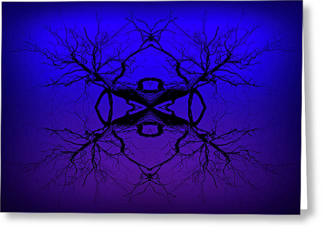 Purple Tree Haze Greeting Card