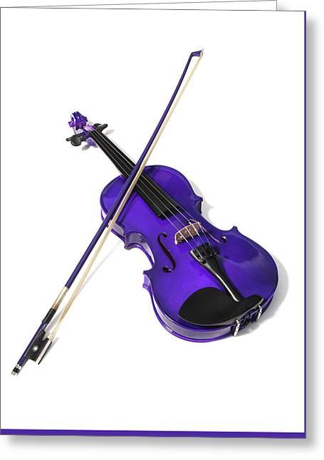 Purple Violin Greeting Card