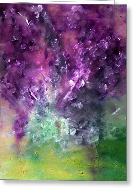Purple Vortex Painting Greeting Card by Don  Wright