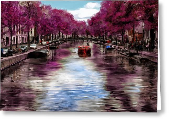 Purple Water Greeting Card