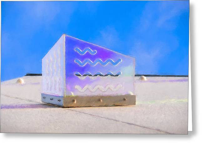Purple Waves Greeting Card