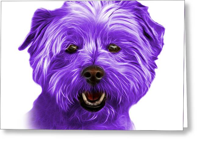 Purple West Highland Terrier Mix - 8674 - Wb Greeting Card