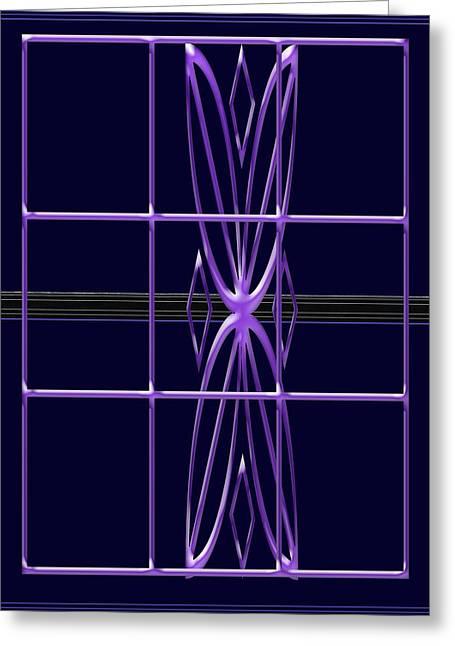 Purple Window Greeting Card
