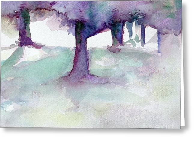 Purplescape II Greeting Card