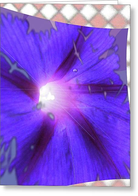 Purplewave Greeting Card by Debra     Vatalaro