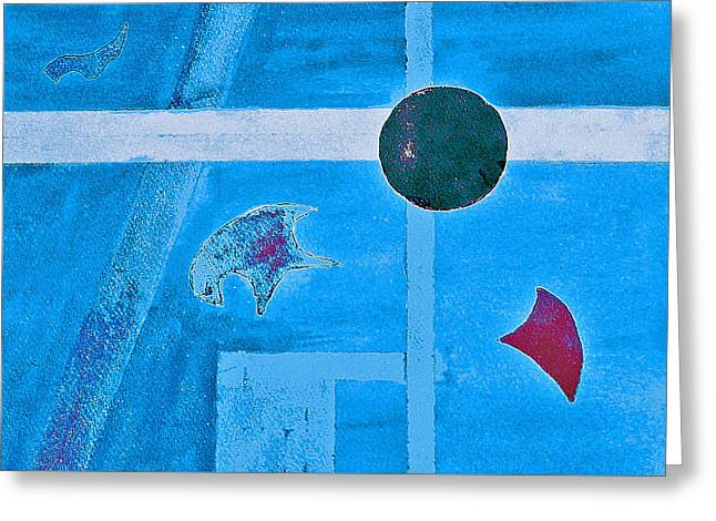 Purposphere Gone Blue Greeting Card