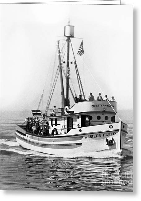 Purse Seiner Western Flyer On Her Sea Trials Washington 1937 Greeting Card