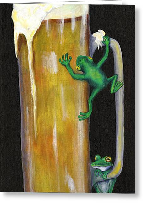 Pursuit Of Hoppiness Greeting Card by Debbie McCulley