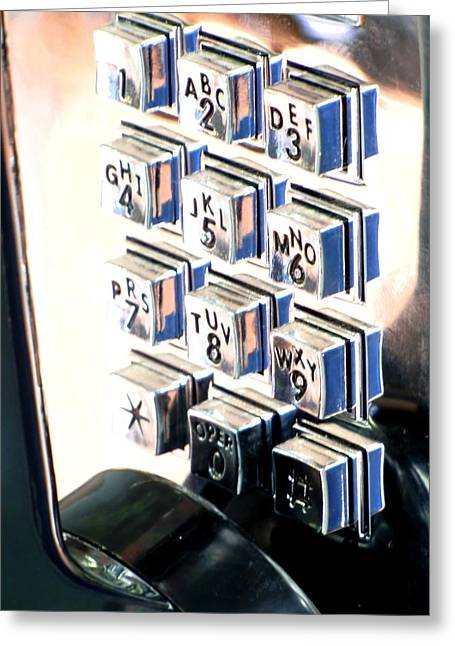 Push My Buttons Greeting Card by Richard Mansfield
