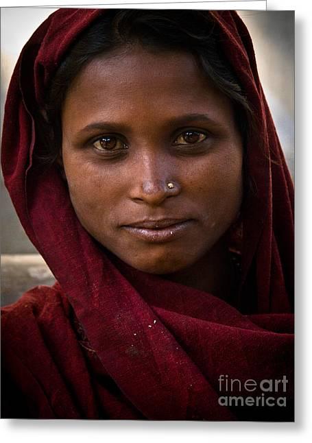pushkar girl I Greeting Card