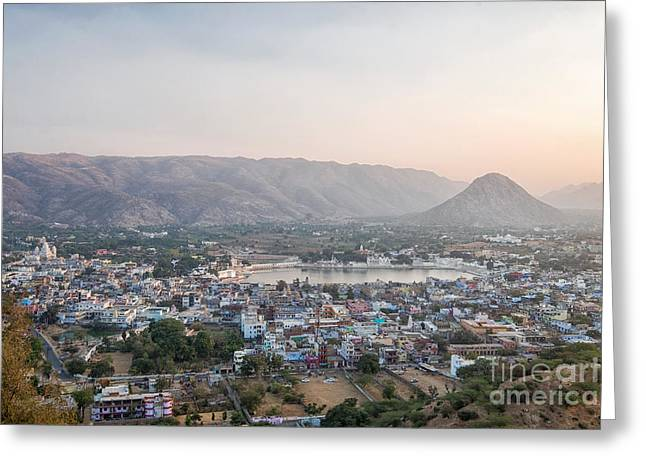 Greeting Card featuring the photograph Pushkar by Yew Kwang