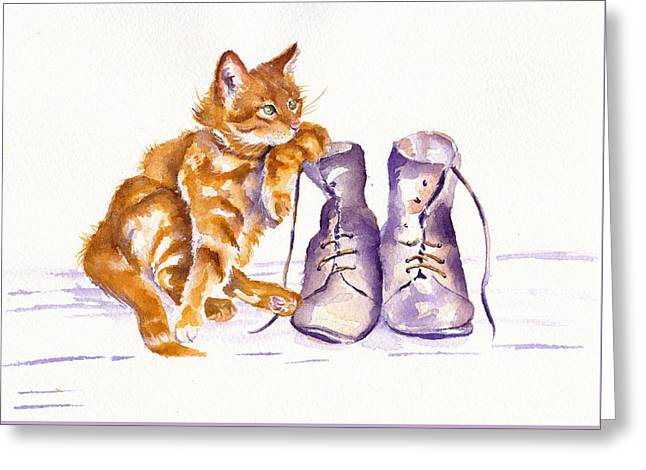 Puss 'n Boots Greeting Card