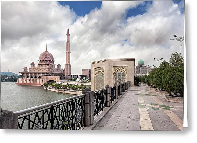 Putra Mosque Greeting Card by David Gn