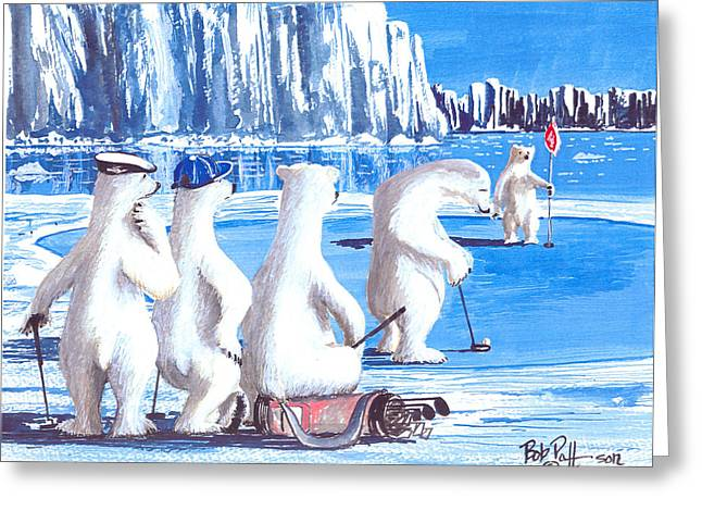 Putt For Dough Greeting Card by Bob Patterson