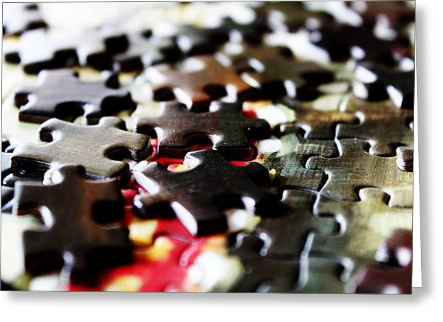 Puzzle Greeting Card by Magdalena Green