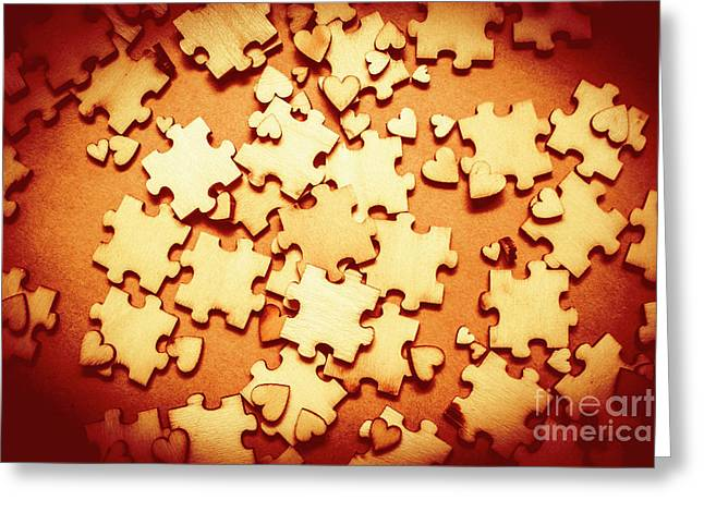 Puzzle Of Love Greeting Card by Jorgo Photography - Wall Art Gallery