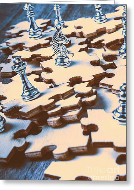 Puzzle Of Mysteries And Strategy Greeting Card by Jorgo Photography - Wall Art Gallery