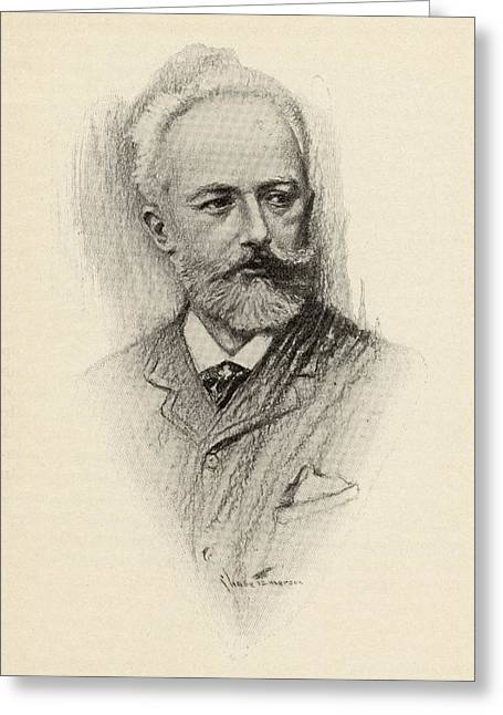 Pyotr Ilyich Tchaikovsky, 1840-1893 Greeting Card by Vintage Design Pics