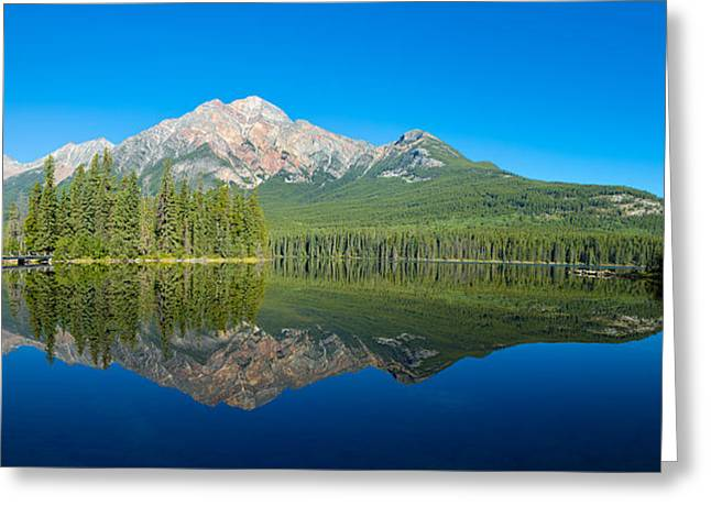 Pyramid Island In The Pyramid Lake Greeting Card by Panoramic Images