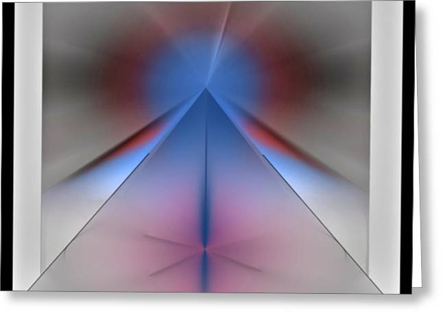 Greeting Card featuring the digital art Pyramid by John Krakora