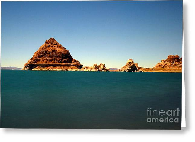 Pyramid Lake  Greeting Card