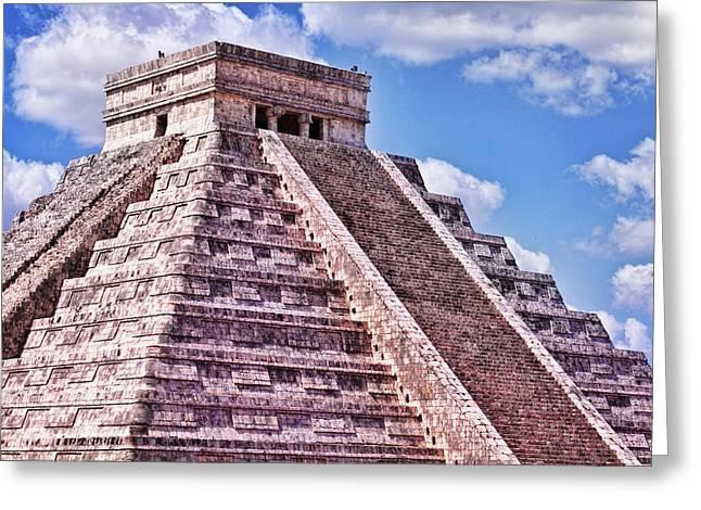 Pyramid Of Kukulcan At Chichen Itza Greeting Card
