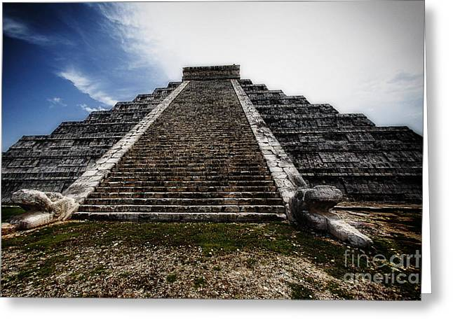 El Castillo Greeting Cards - Pyramid of Kukulcan Greeting Card by George Oze