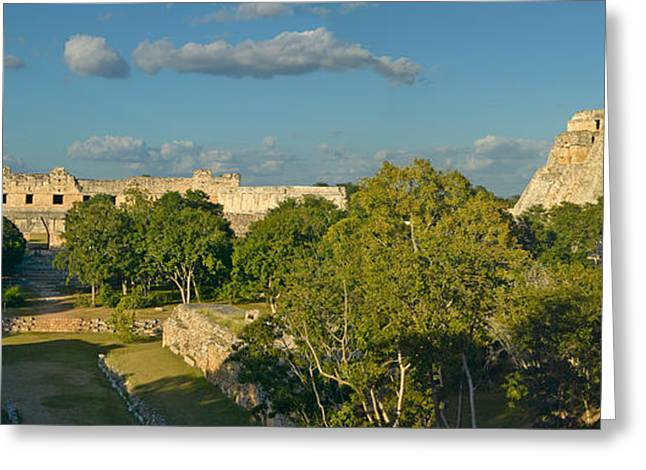 Pyramid Of The Magician, Mayan Ruin Greeting Card by Panoramic Images