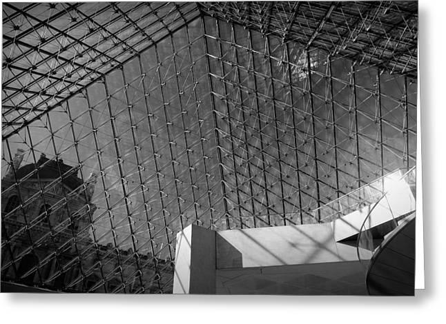 Pyramide Du Louvre Greeting Card by Sebastian Musial