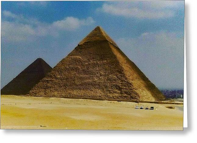 Pyramids, Cairo, Egypt Greeting Card