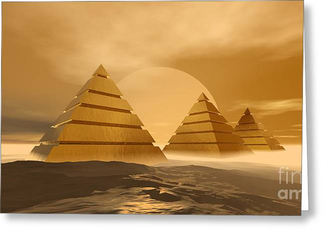Pyramids Greeting Card by Corey Ford