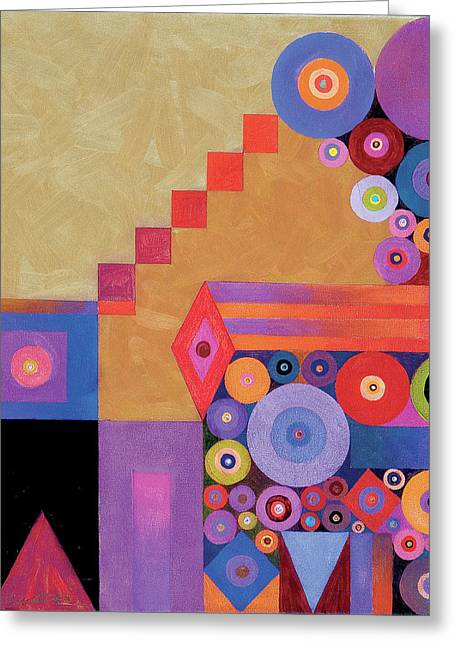 Pythagorus' Abstract I Greeting Card by Bob Coonts